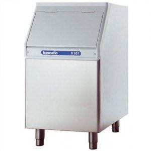 Modular flake ice machine w/ bin
